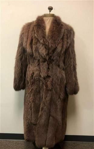 Fox Fur Coat Floor Length