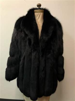 Black Fox Fur Sterling Coat by Jacobson's