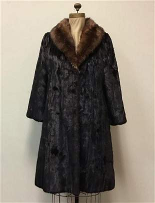 Ranch Mink with Sable Collar Coat Jacket Johnny Dyson
