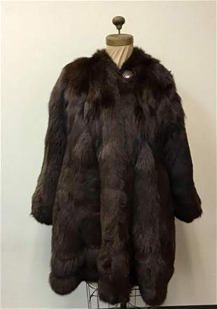 Brown Fox Fur Coat Jacket Elsa Fur Vintage Fashion