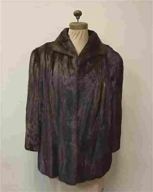 Mahogany Mink Stroller Fur Coat Vintage Fashion