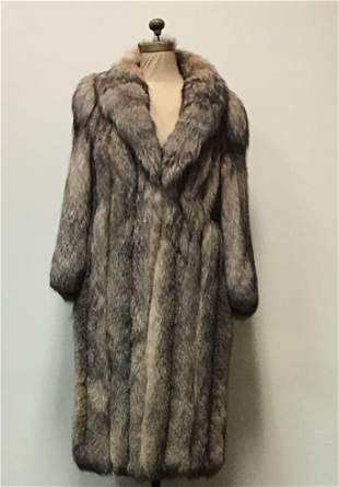 Crystal Fox Luxurious Fur Coat