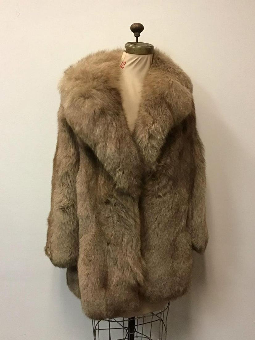 Atelier Beige Fox Stroller Fur Coat