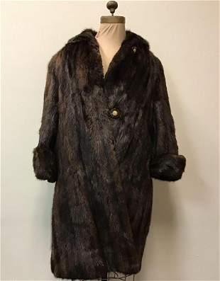 Brown Muskrat Fur Coat Ernie Ford Furrier