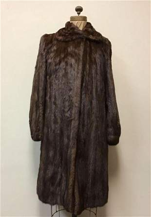 Mahogany MInk Fur Coat Jacket Vintage Fashion