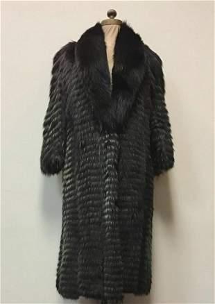 Feather Cut Fox Fur Coat Jacket Vintage Fashion