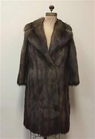 Fox and Marten Fur Coat Jacket Vintage Fashion