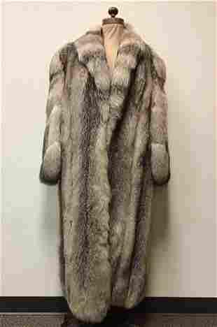 Crystal Fox Fur Coat Jacket Vintage Fashion