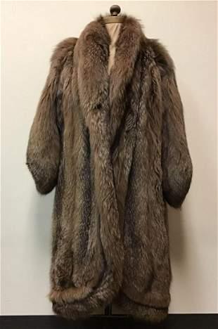 Brown Fox Fur Coat Jacket Vintage Fashion
