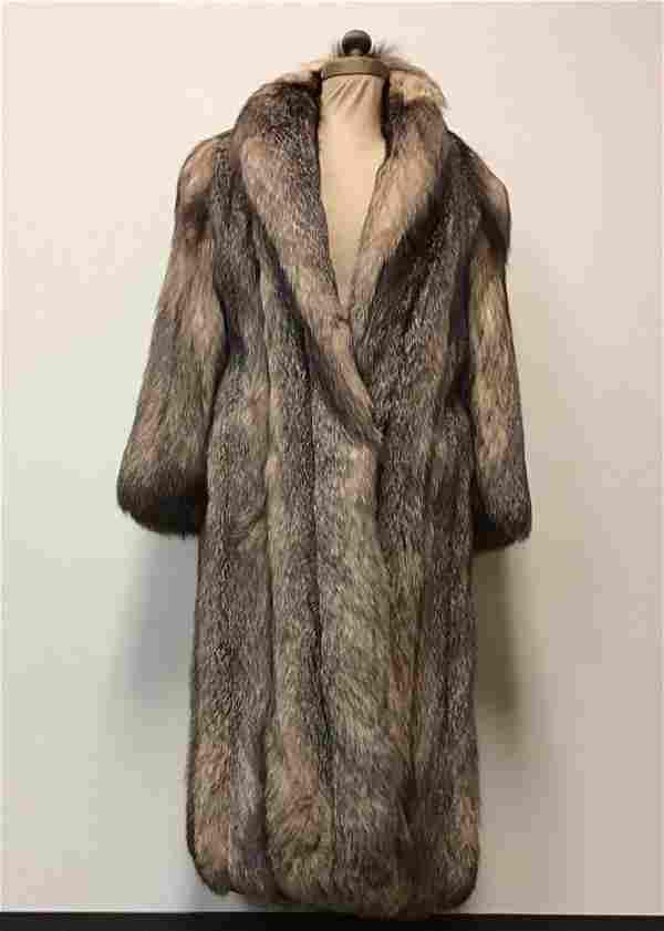Luxury Crystal Fox Fur Coat Jacket Vintage Fashion