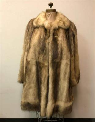 Beige Fox Sterling Fur Coat