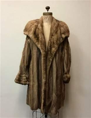 Autumn Haze Mink Fur Coat Jacket Vintage Fashion