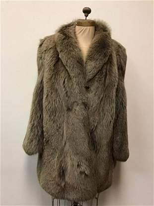 Heather Fox Fur Coat Jacket Vintage Fashion