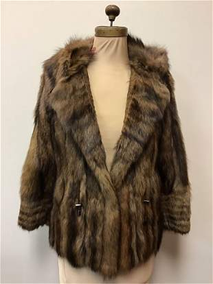 Fisher Fur Jacket Coat Vintage Fashion