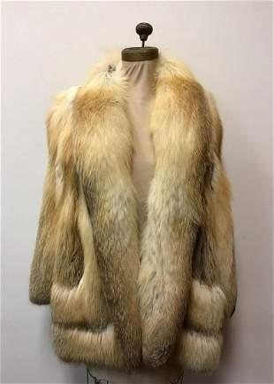 Golden Isle Fox Jacket Coat Vintage Fashion