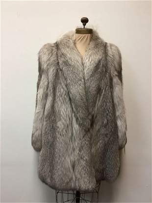 Indigo Fox Fur Coat Jacket Elsa Fur Vintage Fashion
