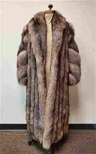 Full Length Diva Gray Fox Coat