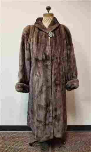 Taupe Mink Coat by Pageau Fine Furs Lachine