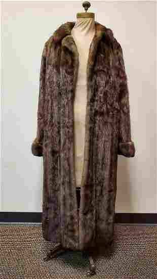 Vintage American Legend Brown Natural Mink Coat