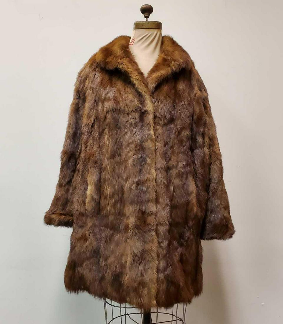 Vintage Mink Fur Coat by Pelz Adrian Bonn