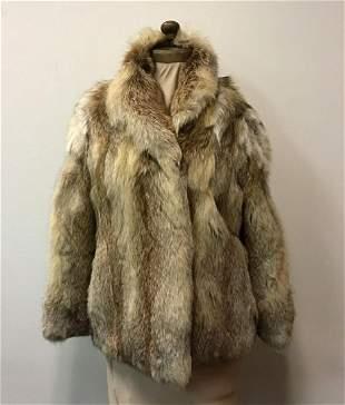 Golden Isle Fox Fur Jacket Coat Vintage Fashion Daytons