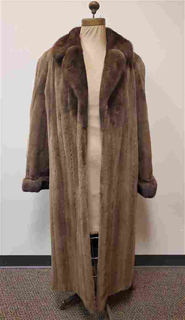 Full Length Brown Natural Mink by Lunaraire American