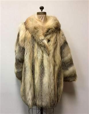 Golden Isle Fox Fur Coat Jacket Vintage Fashion