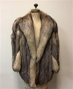 Crystal Fox Fur Coat Vintage Fashion John Pappas Furs