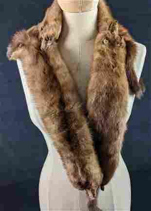 Vintage Four Whole Body Mink Stole Scarf Wrap Y4