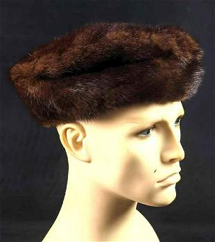 Vintage Thornburg & Love Mink Fur Cap Hat