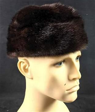 Vintage l.Magnin Mink Fur Cap Hat