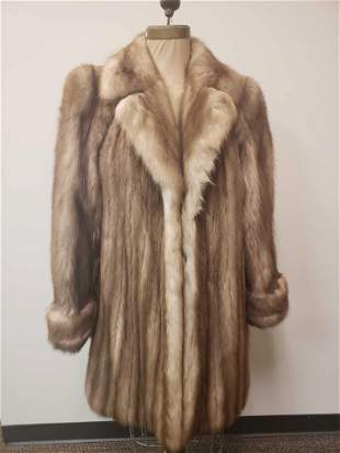 York Furrier Stone Marten Fur Coat