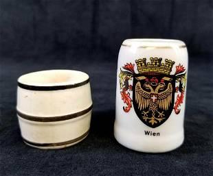 2 German Miniature Stein Collectibles