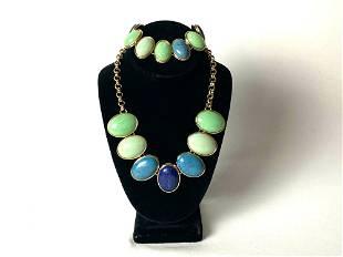 Talbots Designer Costume Necklace & Bracelet Set