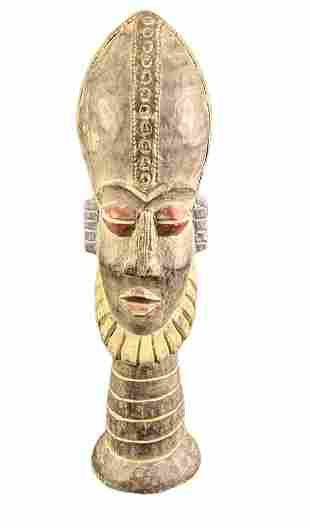 Hand Carved Vintage African Tribal Head Figurine