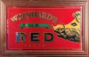 Vintage Weinhard's Blue Boar Red Lager Beer Mirror