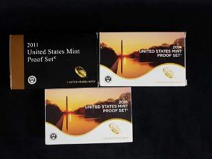 3 United States Mint Proof Sets 2011 2014 2015 B