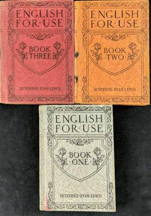 Vintage English For Use Hardcover Books 1 to 3