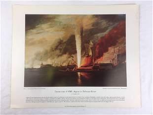Vintage Naval History Poster