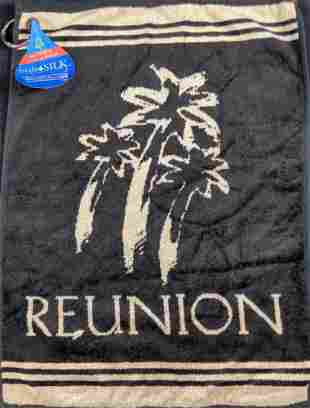 Reunion Golf Course Golf Towel Hydro Silk