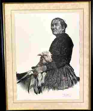 Native American Lithography by Diane Yeager