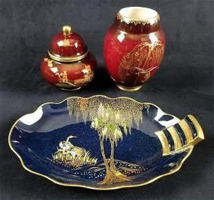 Three Pieces of Carlton Ware English Porcelain
