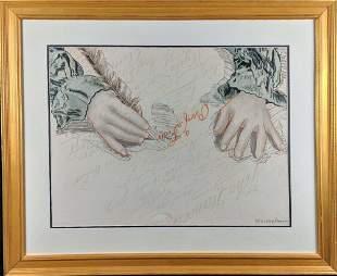 Framed Larry Rivers Bicentennial Lithograph W3