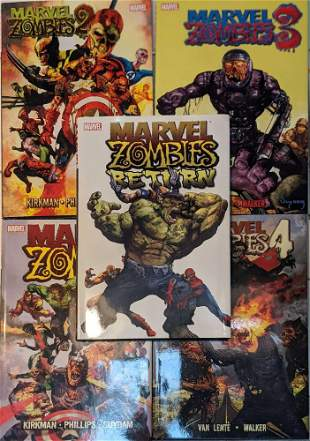 Five Marvel Zombies Hardcover Collection Books