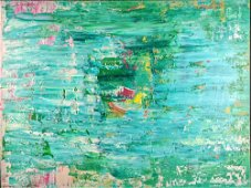 "Original Acrylic On Canvas ""Happy Life"" Abstract"