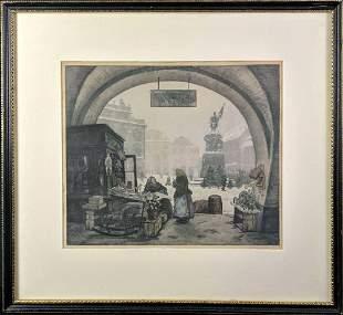 Vintage Jaromir Stretti Zamponi Framed Print T5