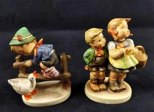 Vintage Hummel Goebel Market And Goose Figures