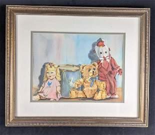 Watercolor Bettye Paden Painting Framed