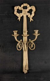 Vintage Three Candle Wall Sconce