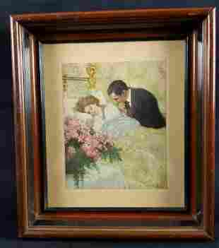 Vintage Framed C Clyde Squires Print Her Gift